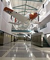 US Navy 050126-N-4204E-112 A T-34B Mentor trainer aircraft hangs in the North Atrium of the newly renovated Chevalier Hall building at the Naval Air Technical Training Center (NATTC) on board Naval Air Station Pensacola, Fla.jpg