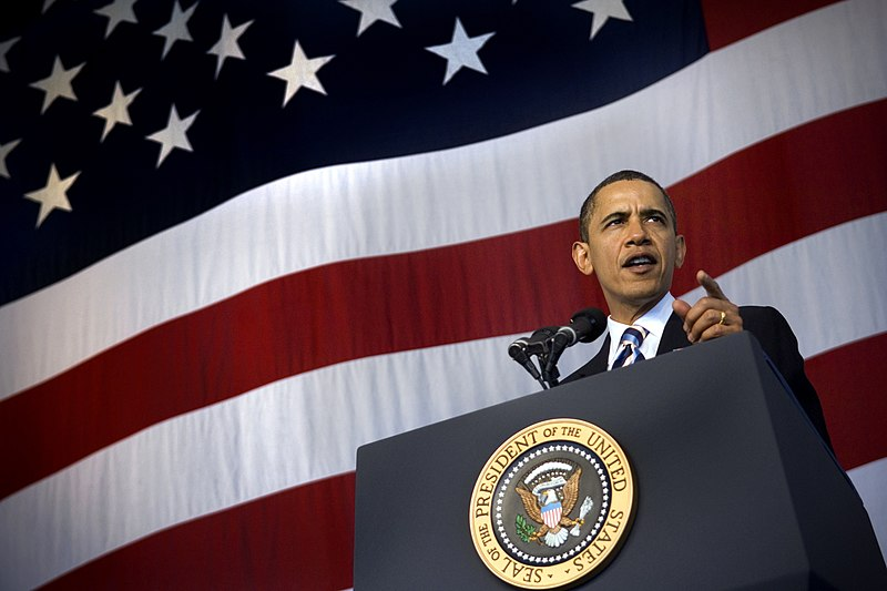 File:US Navy 091026-N-5549O-249 President Barack Obama delivers remarks to an audience of Sailors and Marines before introducing President Barack Obama during a visit to U.S. Naval Air Station Jacksonville.jpg
