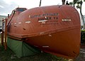 US Navy 091107-N-8689C-001 The life raft from the container ship MV Maersk Alabama that Capt. Richard Phillips was held captive in by Somali pirates is on permanent display at the National Navy UDT-SEAL Museum in Fort Pierce, F.jpg