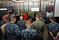 US Navy 100615-N-6676S-004 Sailors listen as Andrew Tipton explains the dangers of drunk driving.jpg