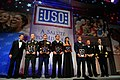 US Navy 101007-N-9818V-372 The 2010 USO Service Members of the Year are recognized at the 2010 USO Gala held at the Marriott Wardman Park in Washin.jpg