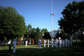 US Navy 110614-N-HG258-045 The U.S. Navy Ceremonial Band performs the national anthem as the American flag is raised during morning colors.jpg