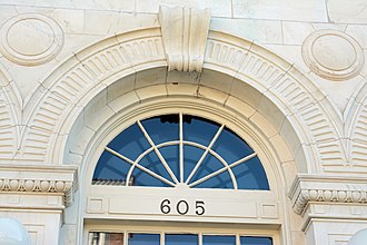 United States Post Office and Courthouse (Waycross, Georgia) - Image: US Post Office and Court House, detail above window, Waycross, GA, US