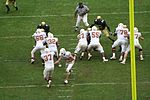 UT Longhorn football - handoff to Melton in Big12 championship game.JPG