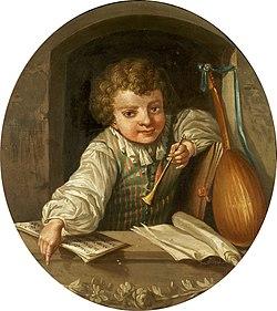 PASCH Ulrika (1735–1796) Boy with a Flute