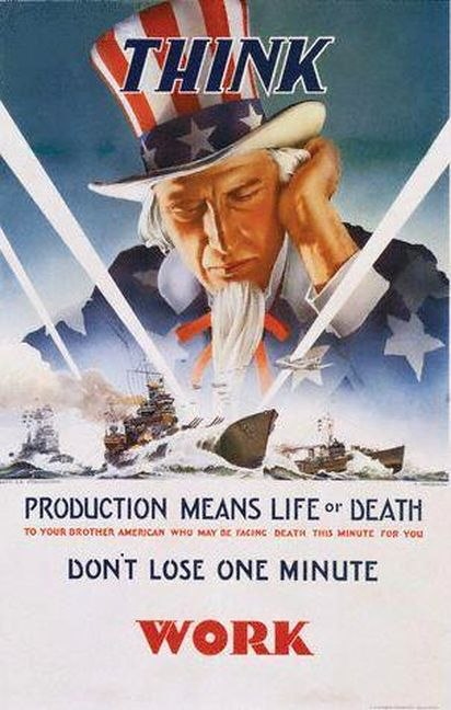 Uncle Sam Navy poster