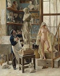 Une Restauration (1891), huile sur toile d'Édouard Dantan. (définition réelle 3146×4000)