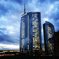 Unicredit Tower (Milan) at evening.jpg