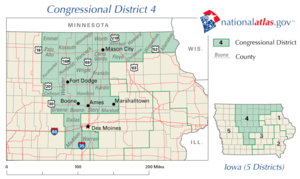 United States House of Representatives elections in Iowa, 2006 - Image: United States House of Representatives, Iowa District 4 map