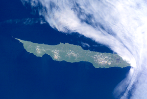 Urup - NASA picture of Urup Island