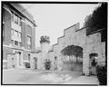 VIEW OF GATE FROM WITHIN , SHOWING SMALLER OCTAGONAL TOWER - Stevens Gatehouse, Castle Point, Hoboken, Hudson County, NJ HABS NJ,9-HOBO,7-2.tif