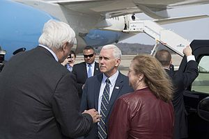 Jim Justice - Jim and Cathy Justice meeting Vice President Mike Pence in March 2017