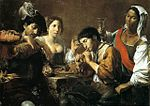 Valentin de Boulogne, Musician and Drinkers.jpg