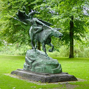 Valkyrie - Valkyrie (1908) by Stephan Sinding located in Churchill Park at Kastellet in Copenhagen, Denmark