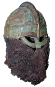 Colour photograph of the Valsgärde 8 helmet