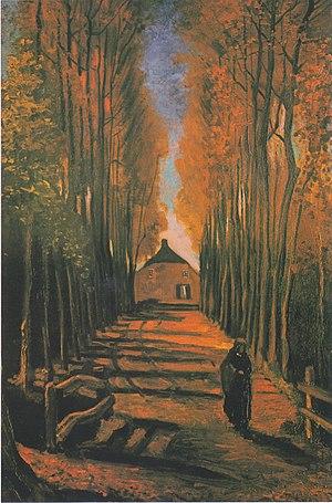 Avenue of Poplars in Autumn - Avenue of Poplars in Autumn, 1884, Van Gogh Museum, Amsterdam (F122)