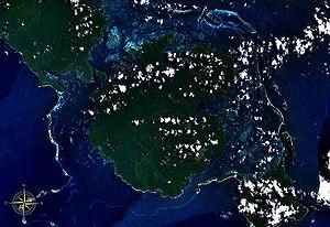 Vangunu - Vangunu Island seen from space