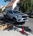 Varga Winery Toyota Hilux and red traffic cone, 2019 Tapolca.jpg