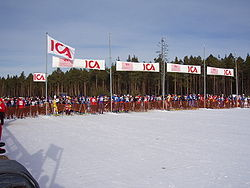 Kortvasan starting in Oxberg. February 2006.