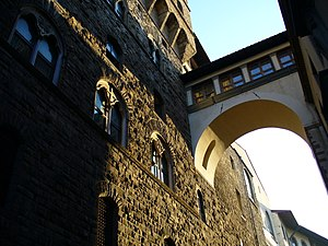 Vasari Corridor - Vasari corridor from Palazzo Vecchio to Uffizi