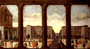 Pietro Ciafferi - Pietro Ciafferi, The Cathedral Square of Livorno, 1650 approx., private collection