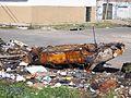 Vehículo quemado en Villa Fiorito.JPG