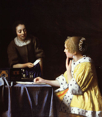 Lady's maid - Mistress and Maid by Johannes Vermeer