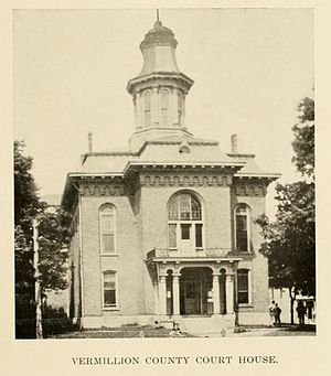 Vermillion County, Indiana - The county courthouse which served from 1868 to 1923