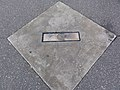 Veterans Stadium pitching mound marker.JPG