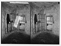 Via Dolorosa. The Prison of the Antonia. Doorway to rock-hewn chambers. LOC matpc.02499.jpg