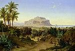 View of Palermo w Mount Pellegrino-August Ahlborn.jpg