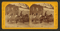 View of a man in mule cart in front of a home, from Robert N. Dennis collection of stereoscopic views.png