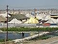 View over Tent City for Pilgrims at Magh Mela Festival - Sangam Site - Allahabad - Uttar Pradesh - India (12589692674).jpg