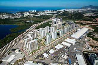 Rio 2016 Olympic Village - Aerial view