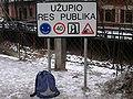Vilnius Uzupio Respublica Sign.JPG