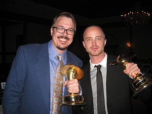 Vince Gilligan and Aaron Paul