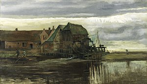 Water Mill at Gennep - Image: Vincent van Gogh Watermolen in Gennep