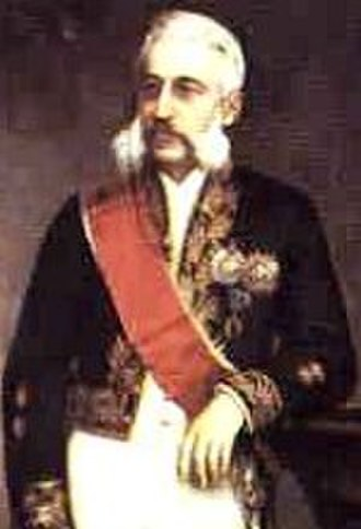Afonso Celso, Viscount of Ouro Preto - Viscount of Ouro Preto wearing the cerimonial outfit of the Senate.