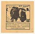 Visitekaartje van prenthandelaar Edmond Sagot te Parijs, RP-P-2015-26-495.jpg