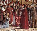 Vittore carpaccio, Pilgrims Meet the Pope 02.jpg