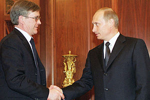 Vladimir Bogdanov - Vladimir Bogdanov with Vladimir Putin in 2002