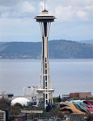 The Space Needle from Volunteer Park in Seattl...