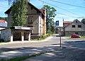 Vratislavice nad Nisou, zastávka Proseč nad Nisou, pošta a ulice U Šamotky.jpg