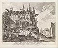 Vue d'une partie du Palais des Cesars du côté de Campo Vaccino, batie par l'Empereur Caligula, from Les Plus Beaux Monuments de Rome Ancienne ou Recueil des plus beaux Morceaux de l'Antiquité Romaine qui existent encore MET DP341368.jpg