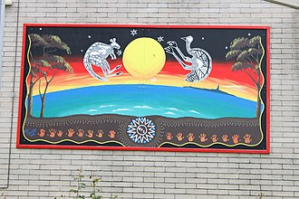 Beaconsfield, Western Australia - Image: WTF Jim Owens Winterfold PS mural