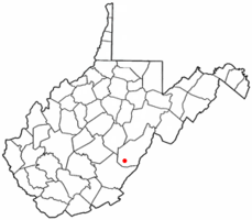 Location of Hillsboro, West Virginia