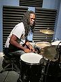 WWOZ Drive Tank & Bangas Drummer.JPG