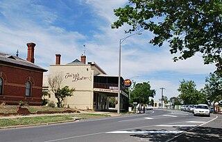 Wahgunyah Town in Victoria, Australia