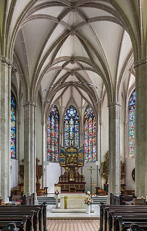 Interior of the parish church Waidhofen an der Ybbs, Lower Austria