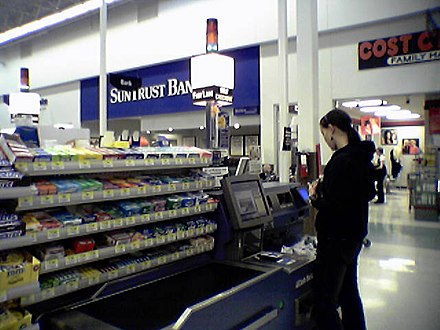NCR FastLane in use at a Virginia Walmart store Wal-Mart Self Checkout.jpg